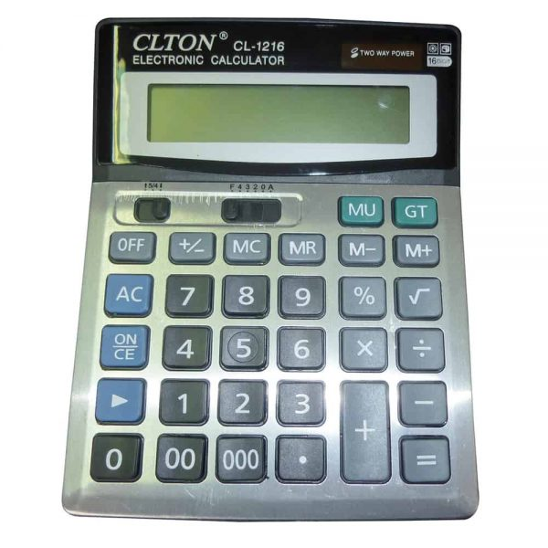 Calculator de birou, 16 cifre, dual power, ecran inclinat
