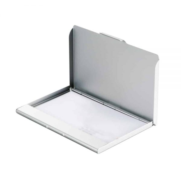 Suport carti de vizita Light, argintiu, 95x60x6mm, aluminiu
