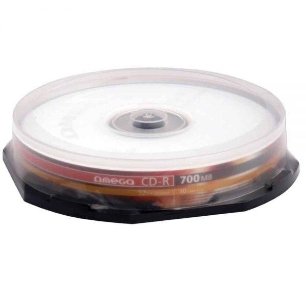 CD-R Omega 52x, 700MB, 80 min, 10 buc