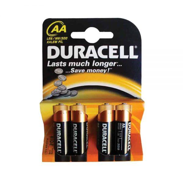 Baterii Duracell Basic, LR6, AA, alcaline, 1.5 V, 4 bucati/set