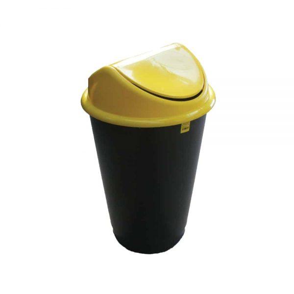 Cos Flip-Flap pentru colectare selectiva a deseurilor, 60 l, galben