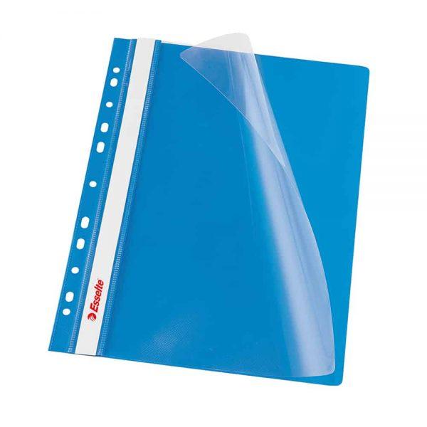 Dosar Esselte cu multiperforatii, plastic, albastru, 10 bucati/set