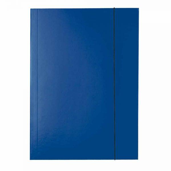 Mapa ESSELTE Economy din carton cu elastic - albastru inchis