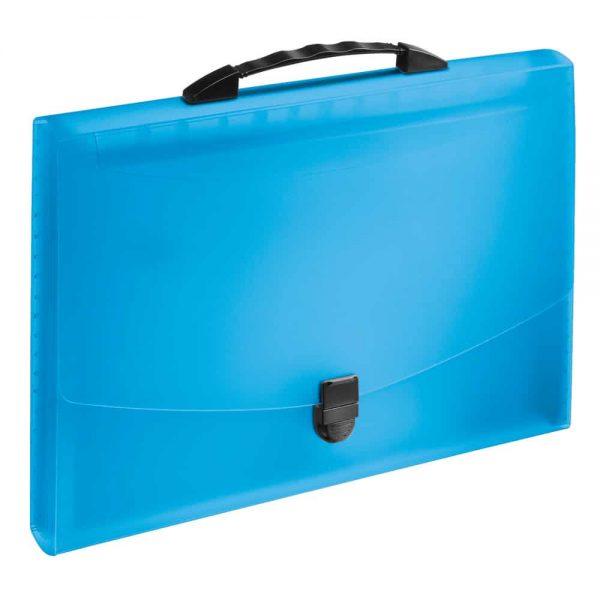 Servieta documente Esselte Vivida, albastru, cu 12 separatoare, prevazuta cu maner