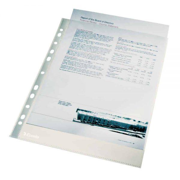 File de protectie Esselte A4 cristal 35 microni 100 buc/um