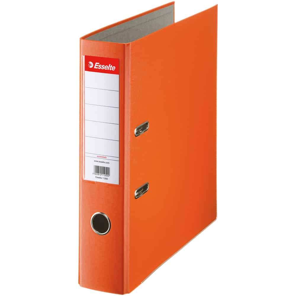 Biblioraft Esselte Economy, PP, A4, 75 mm, portocaliu