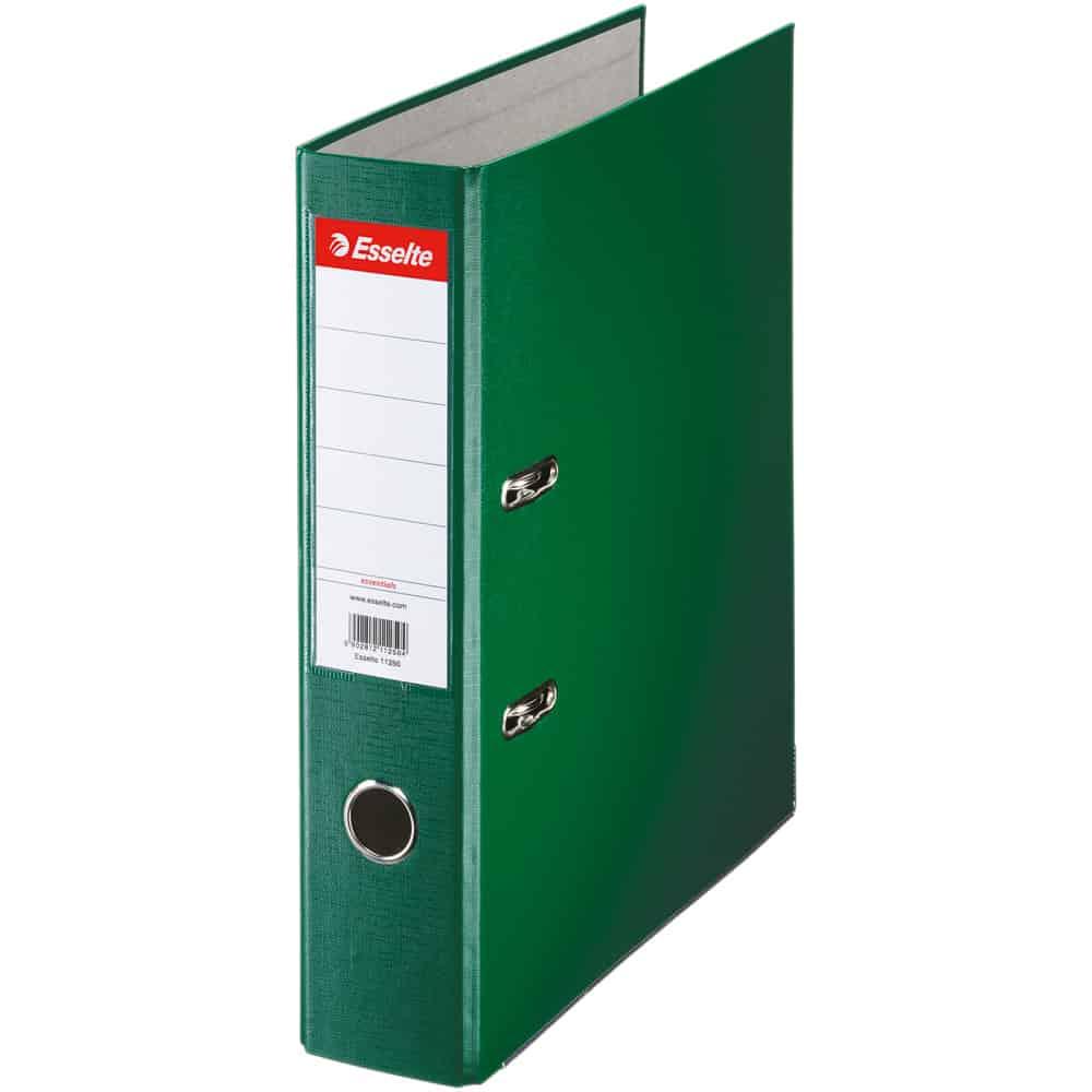 Biblioraft Esselte Economy, PP, A4, 75 mm, verde
