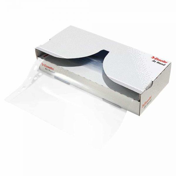 File protectie cristal Esselte, transparent, cristal, 55 microni plastic, 40 buc/set