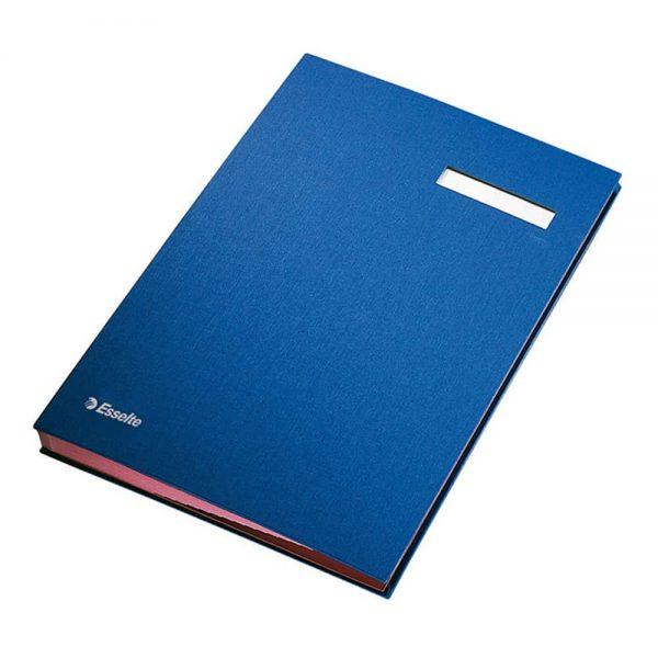 Mapa cu separatoare pentru semnaturi Esselte, carton, albastru