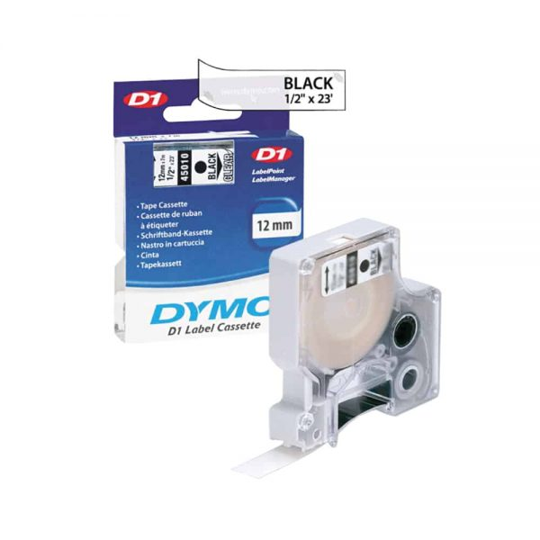 Banda DYMO D1 19mm x 7m, negru/alb