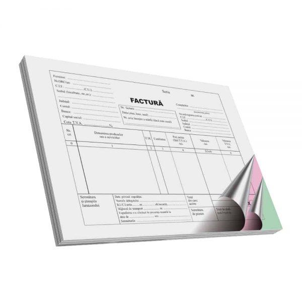 Facturier autocopiativ, A5, 50 file, 3 exemplare, 3 bucati/set