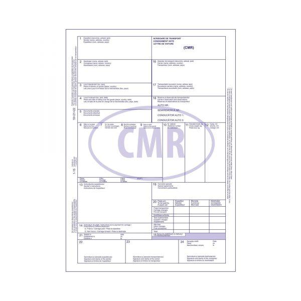 CMR autocopiativ A4, 5 exemplare, 125 file
