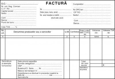 Facturier autocopiativ A5, 50 file, 3 exemplare