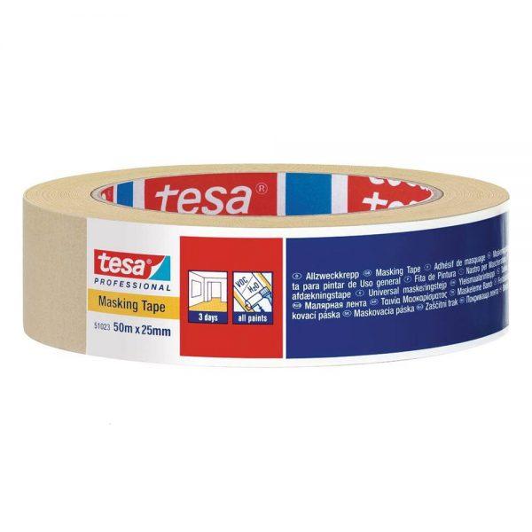 Banda adeziva pentru mascare Tesa, 25 mm x 50 m