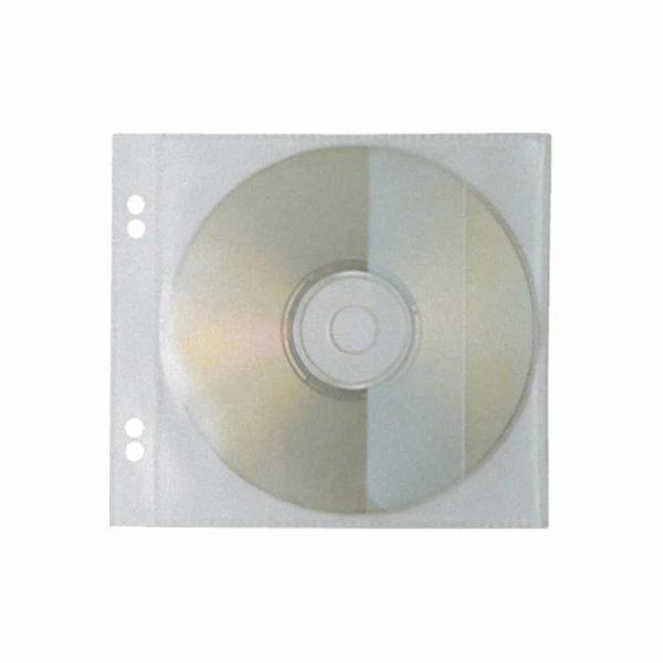 File de protectie Flaro, transparent, pentru 1 CD, 142mm x 130mm, plastic, 10buc/set