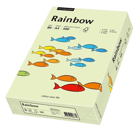Carton A4 Rainbow, 160 g/mp, 250 coli/top, verde pastel