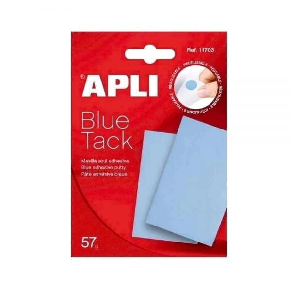 Pastile dublu adezive Apli, albastre, 57 grame/set