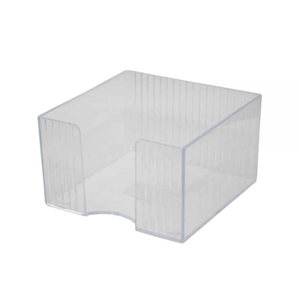 Suport cub hartie Flaro Star, plastic, 90 x 90 mm, transparent