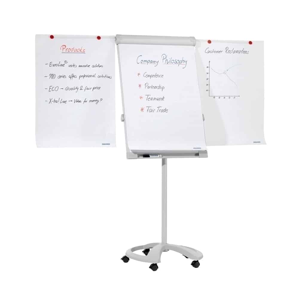 Flipchart magnetic mobil cu brate laterale, OPTIMA Vision