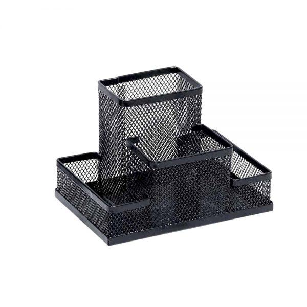 Suport Memoris Precious accesorii de birou mesh, negru