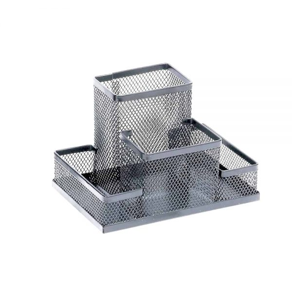 Suport Memoris Precious accesorii de birou mesh, argintiu