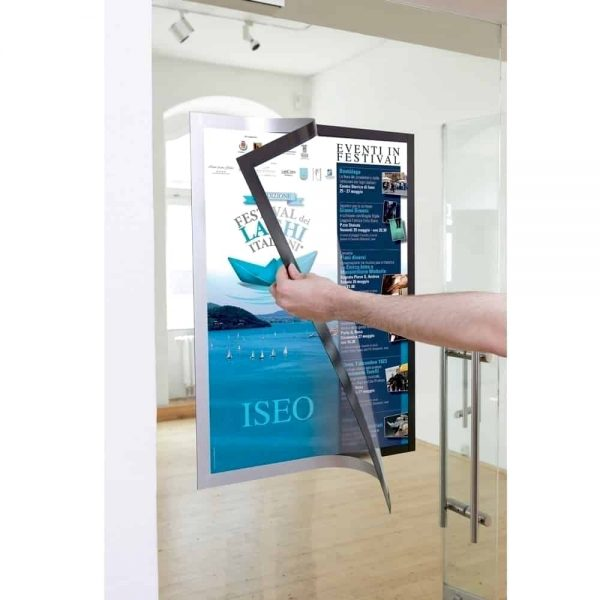 Display magnetic Durable Duraframe, A2, gri, 1 bucata/set