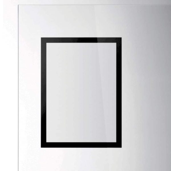 Duraframe magnetic SUN, format 50x70, culoare neagra, 2 buc/set