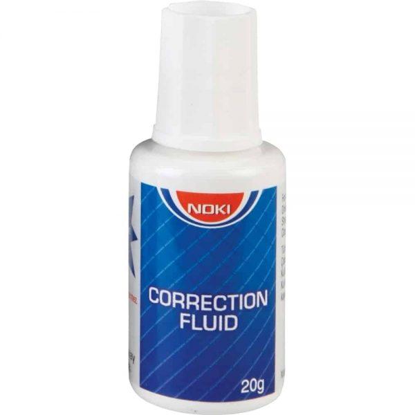 Fluid corector cu pensula Noki, 20 ml, pe baza de solvent