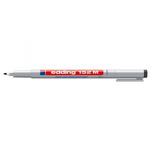 Marker nepermanent Edding OHP 152, varf rotund, 1.0 mm, negru