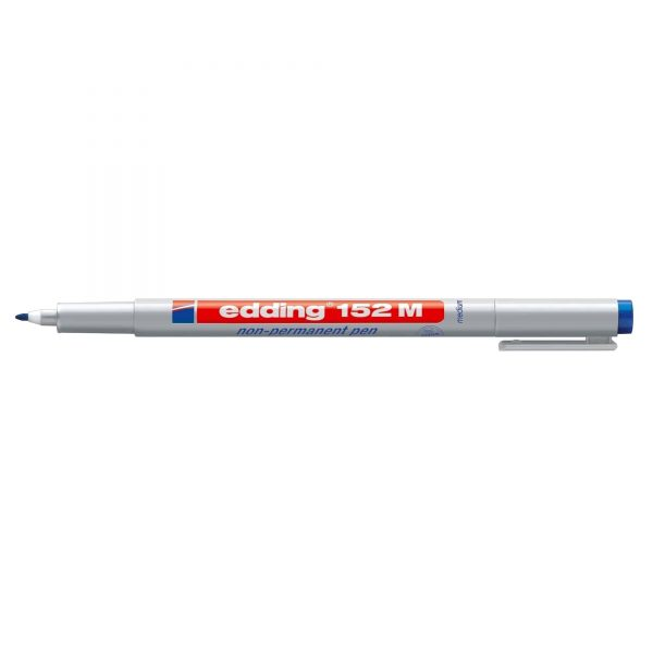Marker nepermanent Edding OHP 152, varf rotund, 1.0 mm, albastru