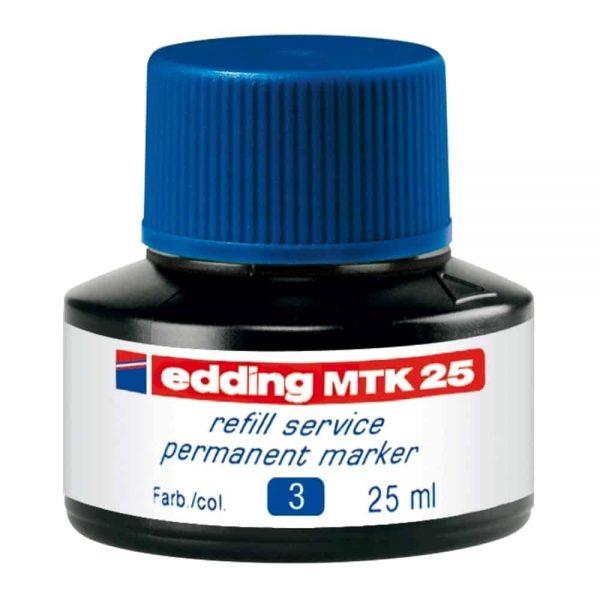 Tus Edding MTK 25 pentru marker permanent sticla plastic 25, albastru