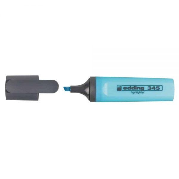 Textmarker Edding 345, varf 2-5 mm, albastru