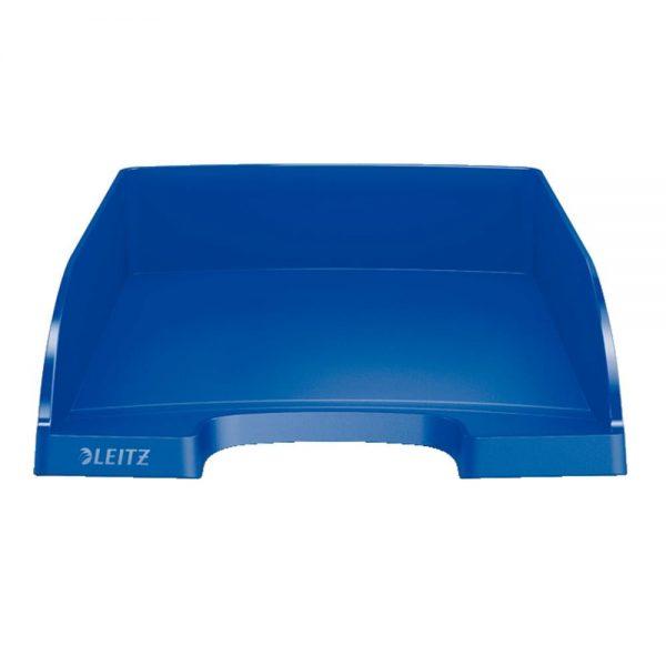 Tavita documente Leitz Plus standard, plastic, albastra