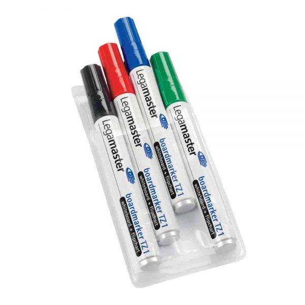 Marker pentru tabla Legamaster TZ1, varf rotund, 1.5-3 mm, 4 culori/set