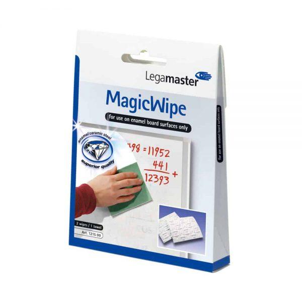 Set, Legamaster, pentru whiteboard, Magic Wipe, format din 2 lavete speciale si un servetel