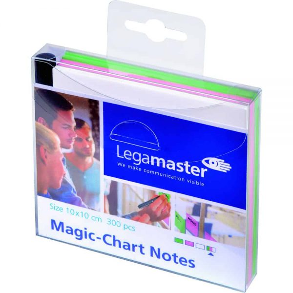 Legamaster Magic-Chart Set notite colorate, 10x10, 300 foi/set