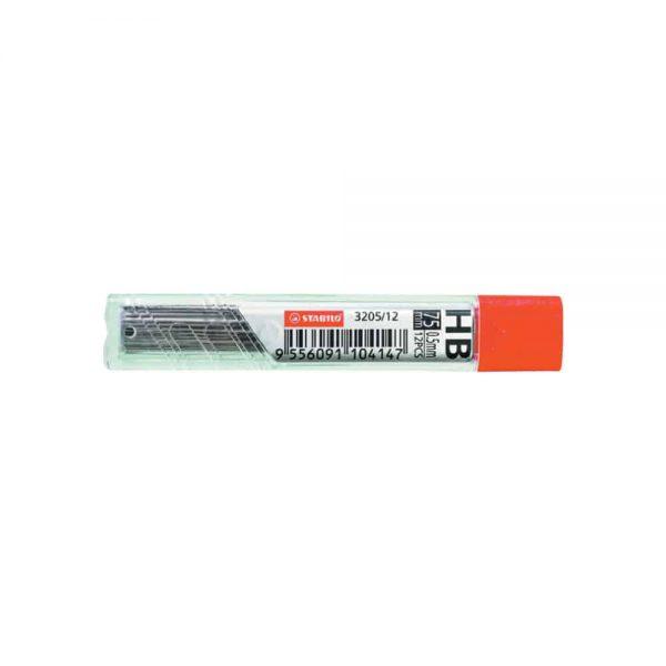 Mine creion mecanic  0.5 mm Stabilo, HB, 12 bucati/cutie