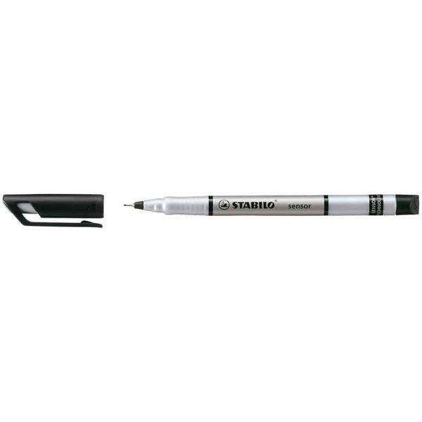 Liner Stabilo Sensor, varf 0.3 mm, negru