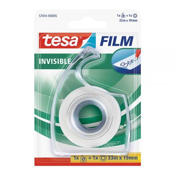 Banda invizibila Tesafilm 19 mm x 33 m, cu dispenser