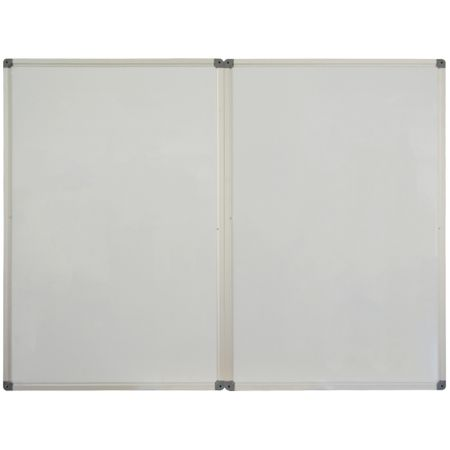 Whiteboard triptic  90 x 120 cm, rama aluminiu, Memoboards