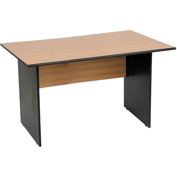 Birou Office Line, PAL, stejar/negru, 120x60x75 cm