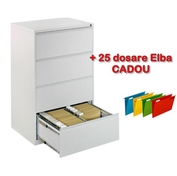 Clasificator metalic dublu cu 4 sertare, 84x62x133 cm CEHA