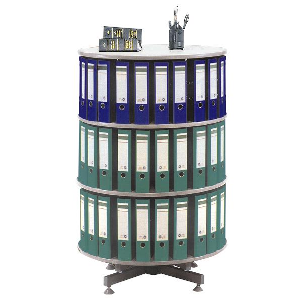 Coloana rotativa pentru bibliorafturi, pal gri, 80 x 93 (H) cm
