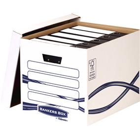 Container arhivare bibliorafturi Fellowes Bankers Box, 10 buc/set