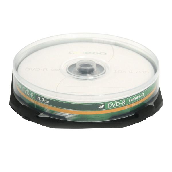 DVD±R Omega, 16x, 4.7 GB, 10 bucati/cake