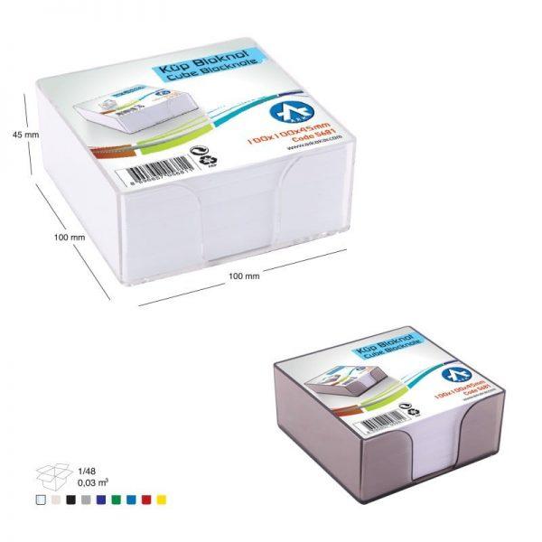 Suport plastic pentru cub hartie , 90x90x45mm + rezerva cub inclusa
