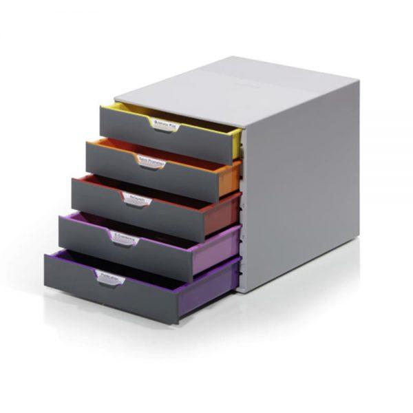 Organizator cu sertare Durable Varicolor, 5 sertare