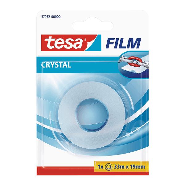Banda adeziva 19 mm x 33 m Tesa Crystal