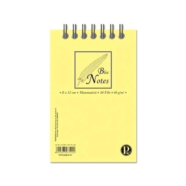 Blocnotes Pigna A5, matematica, 50 file