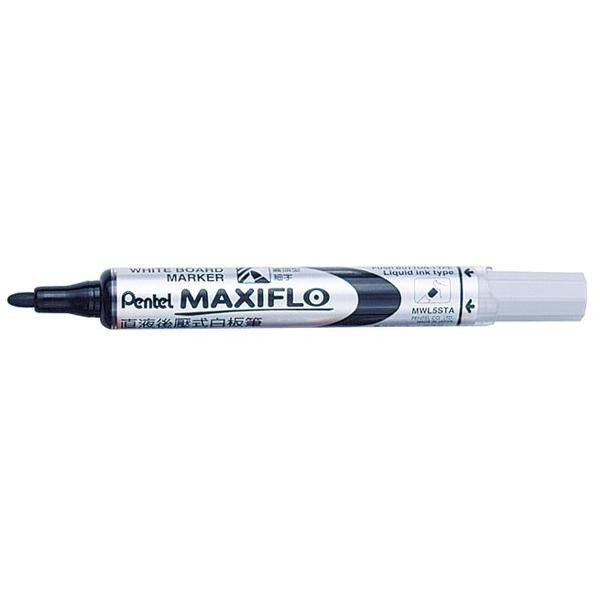 Marker pentru tabla Pentel Maxiflo, varf rotund 4mm, negru